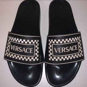 Men's Versace Checker Slide